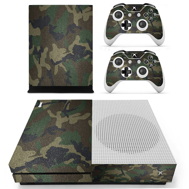Decal Skin Sticker for Xbox One S Slim – Military Camouflage