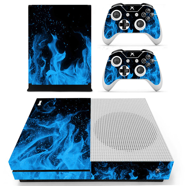 Decal Skin Sticker for Xbox One S Slim – Blue Fire