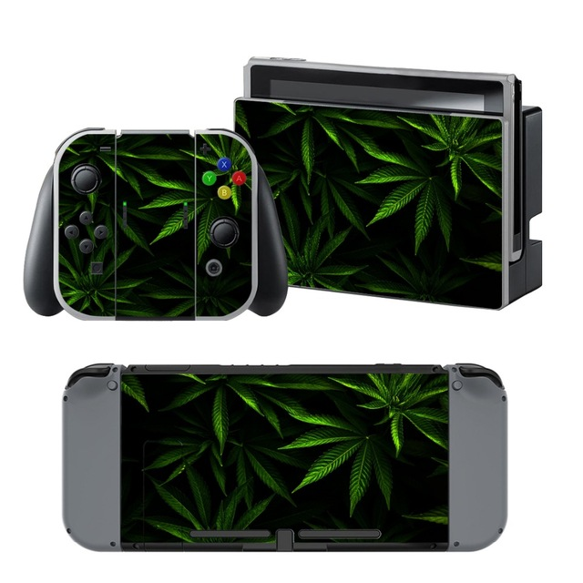 Skin Sticker Vinyl Nintendo Switch Weed Skins For Console