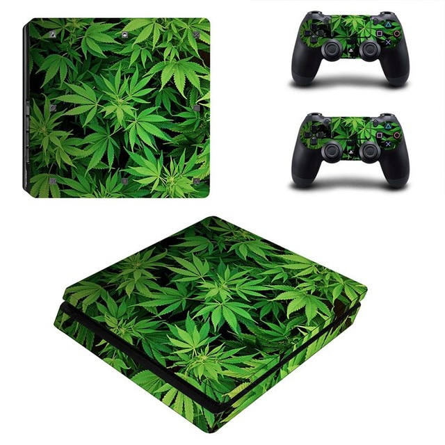 Skin Sticker for PS4 Slim Weed