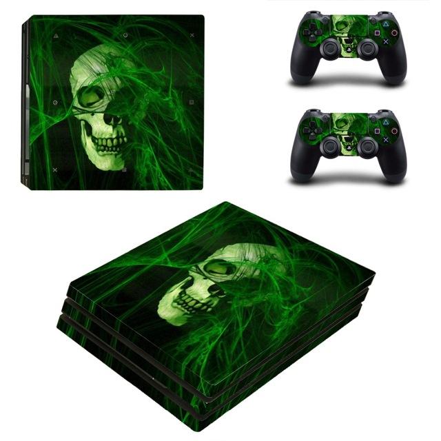 PS4 Pro Skin Sticker green skull